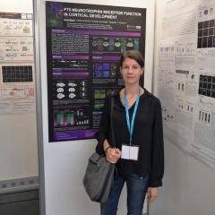 Sonja with her poster
